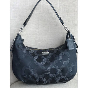 Coach Madison Dotted Op Art Hobo Handbag 15929